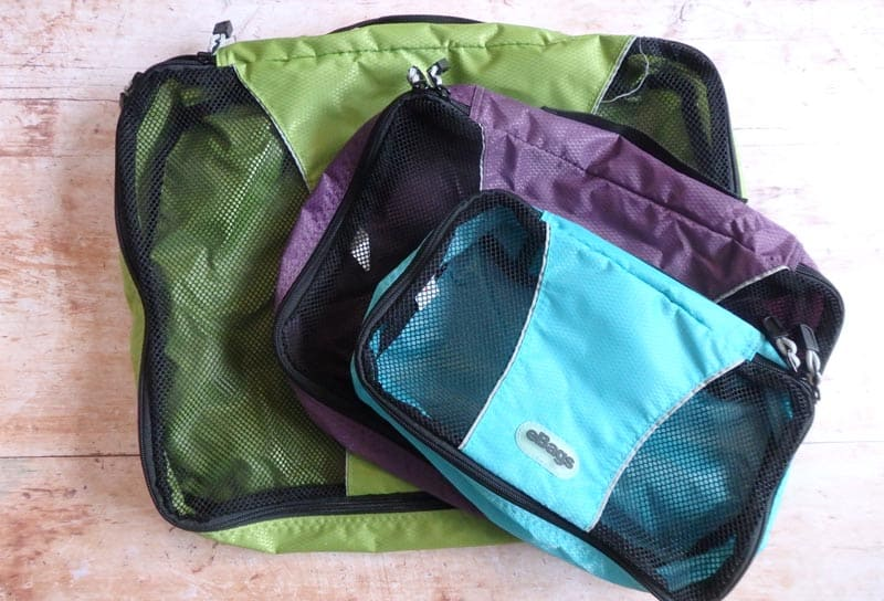 Packing cubes for family travel