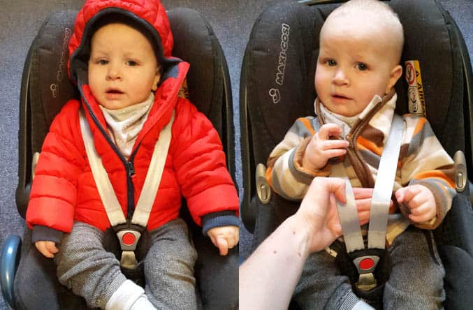 winter baby car seat safety