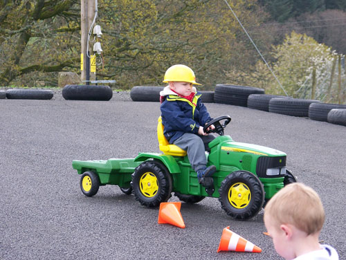 Tractor riding at Auchingarrich Wildlife Centre
