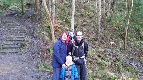 Family at Chatelherault Country Park