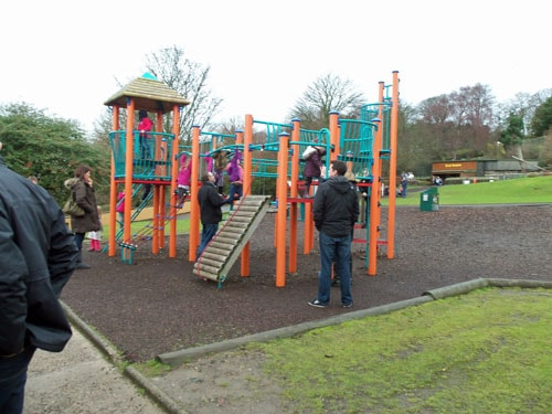 Play area at Edinburgh Zoo