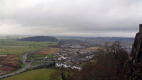 View over surround area of Stirling