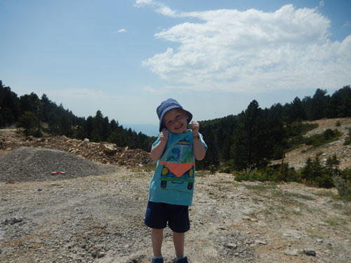 Young boy on Mont Ventoux
