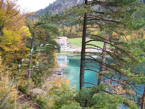 VIew of lake near Hohenschwangau Castle