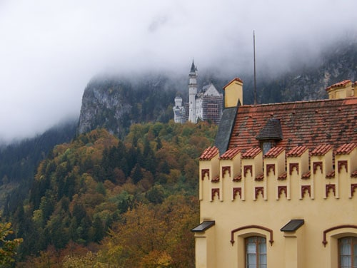 View of castle from Hohenschwangau Castle