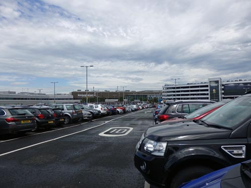 Surface parking at Edinburgh Airport