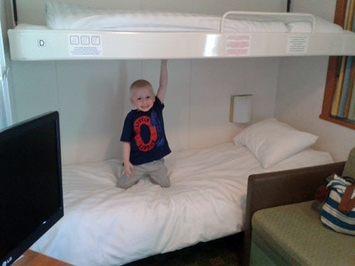 Boy in the Club 5 Berth Cabin