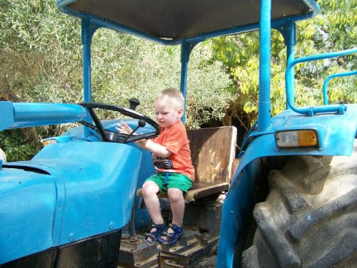 Boy in tractor