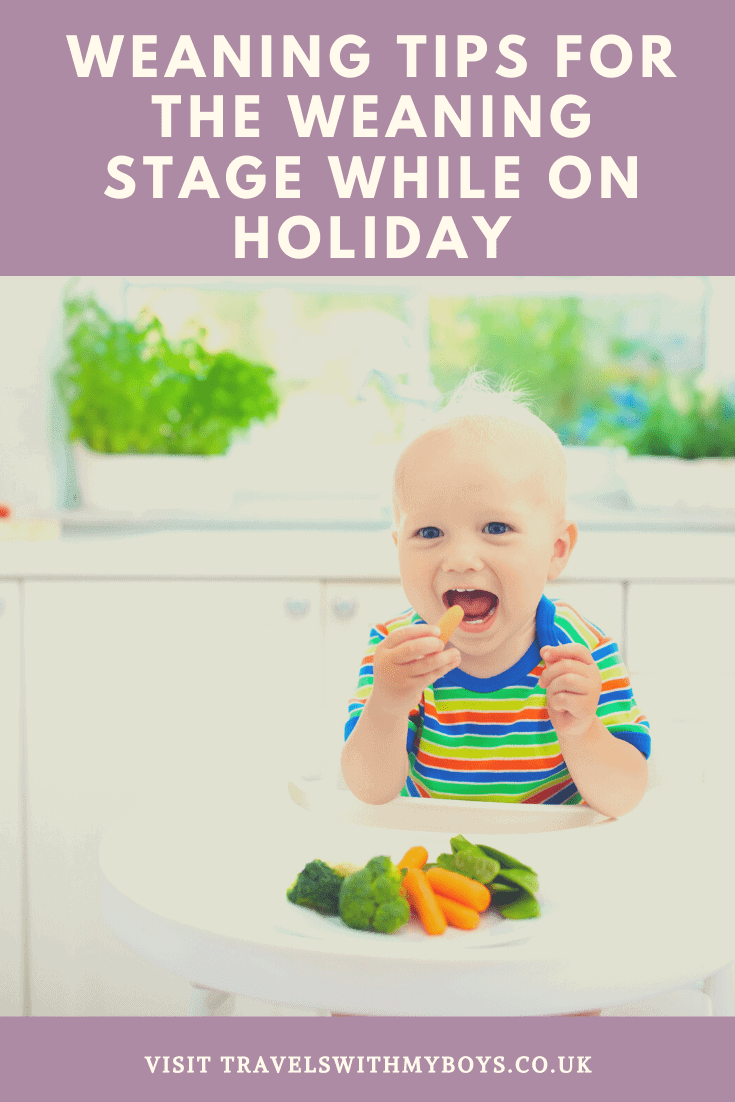 Weaning stage for while on holiday
