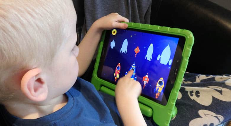 Playing a Toddler App