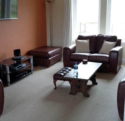 Living room in self catering house