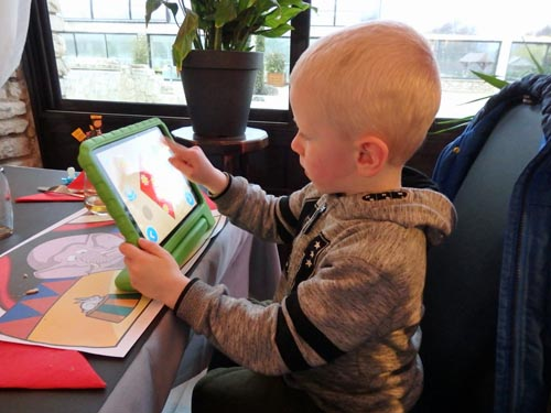 Preschooler with a tablet