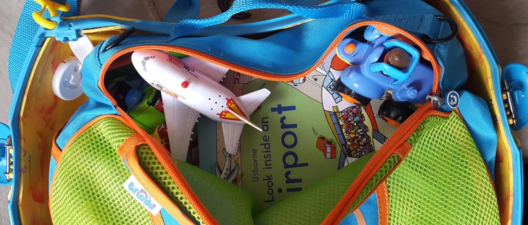 Tote bag full of toys