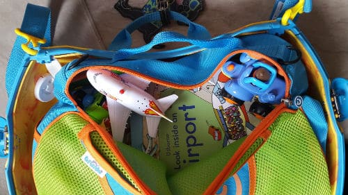 Trunki Tote bag filled with toys