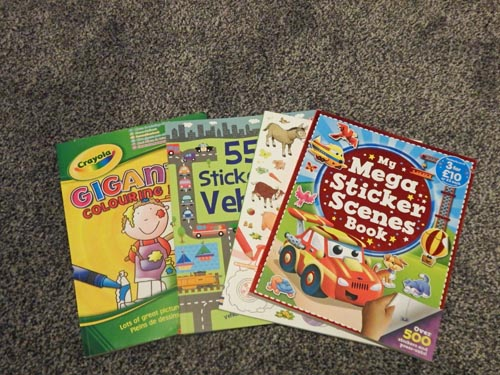 Sticker Books and Colouring Books