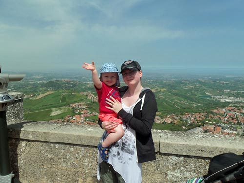 mother and child in San Marino