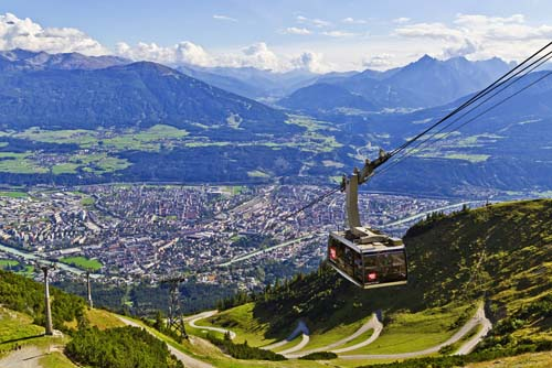 Cable car over Innsbruck