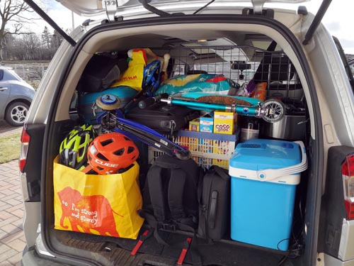 car packed for family holiday