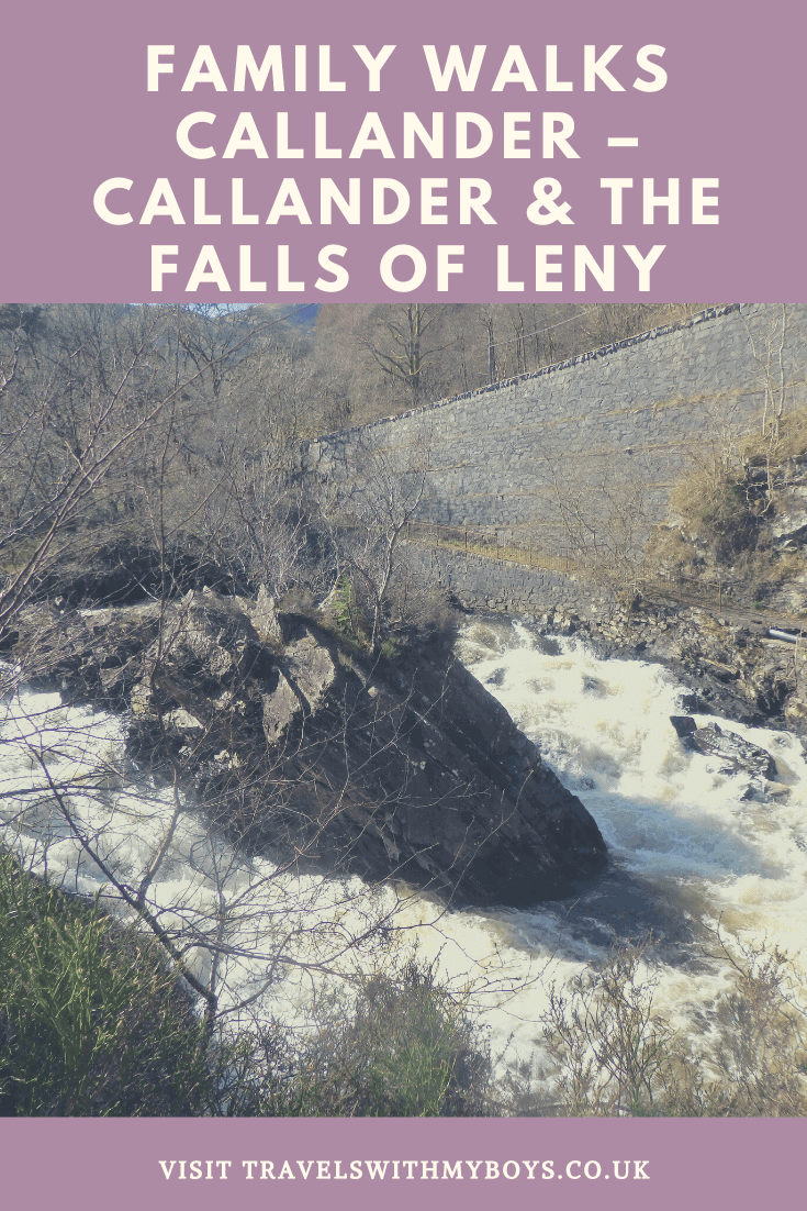 Family Walk in Callander Scotland to the Falls of Leny