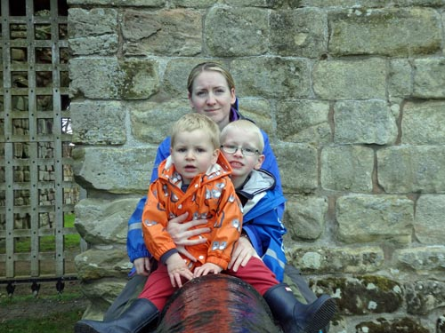 family at Etal Northumberland