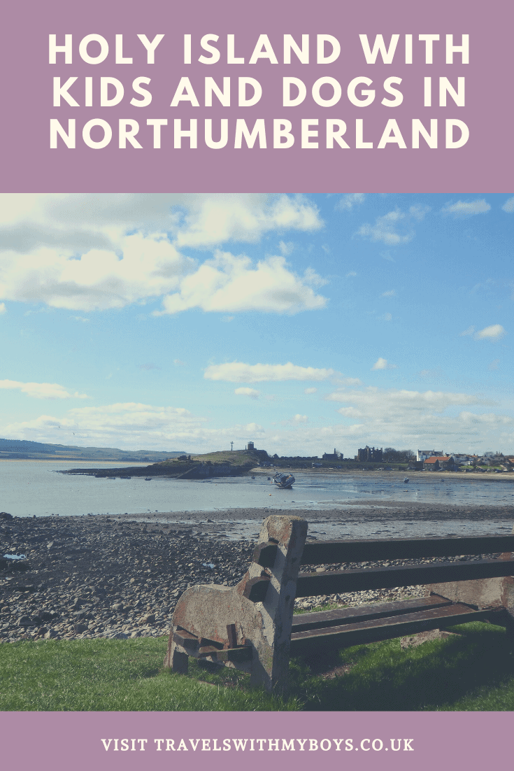 Spending a family day out on Holy Island in Northumberland with kids and dogs.