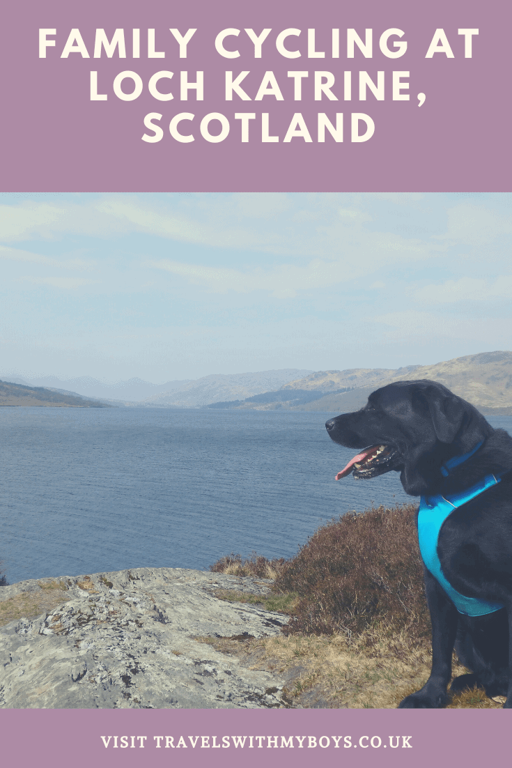 Scenic views of Loch Katrine on a family fun day out.