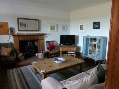 Livingroom in a self catering accommodation on Arran