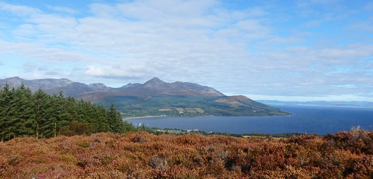View of Brodick and Goatfell in distance