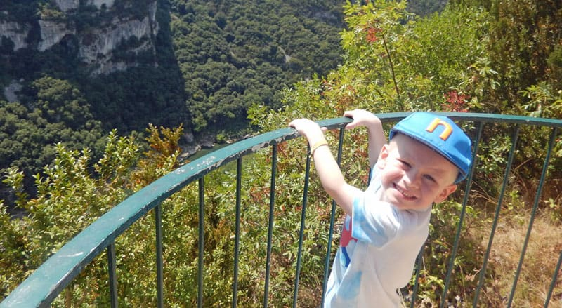 Young child in the Ardeche