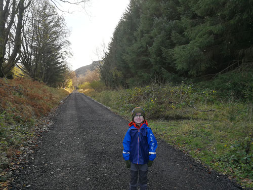 Child at the Glen Ogle Trail