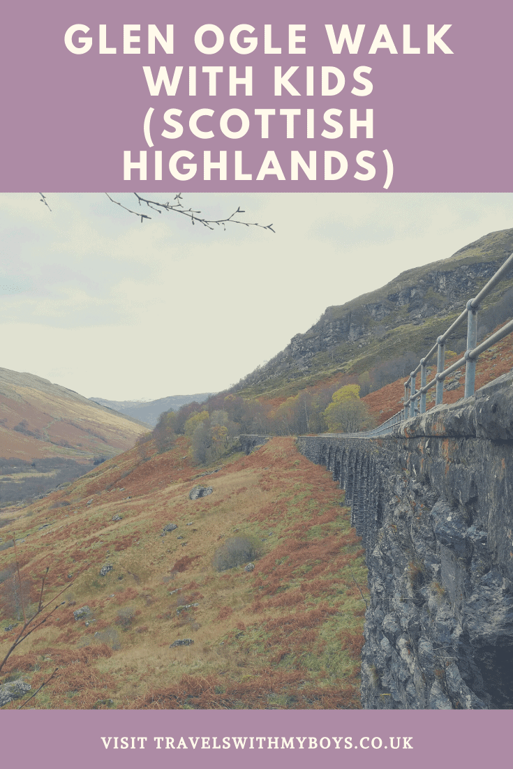 A walk in the Scottish Highlands on the Glen Ogle trail with kids