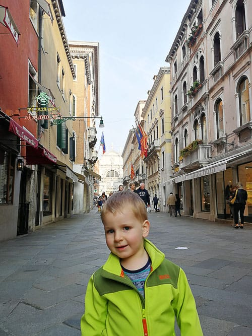 Toddler in Venice