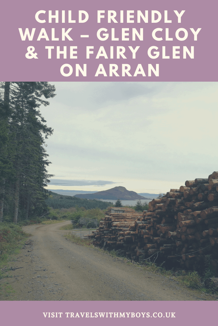 A child friendly walk on the Isle of Arran in Scotland. Check out our child friendly walk through Glen Cloy and the Fairy Glen on the Isle of Arran