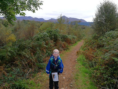 Child on a walk on arran