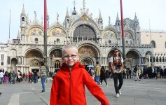Young child in Venice, Italy
