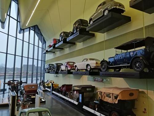 Car wall at Riverside Museum