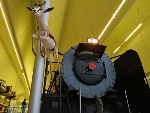 Train at Riverside Museum