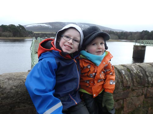 Brothers at Harlaw Reservoir