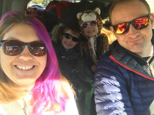 family on a road trip