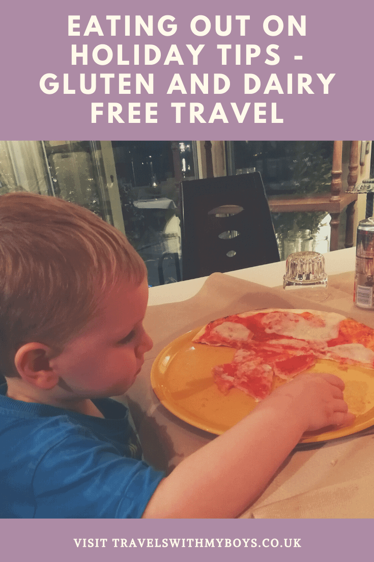 Gluten Free & Milk Free? Read our tips for eating out while on holiday. Free from family travel