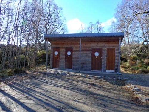 Toilets at River Affric Car Park