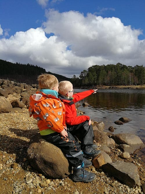 Brothers at Glen Affric