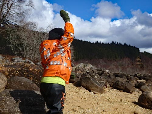 Throwing Stones at Glen Affric
