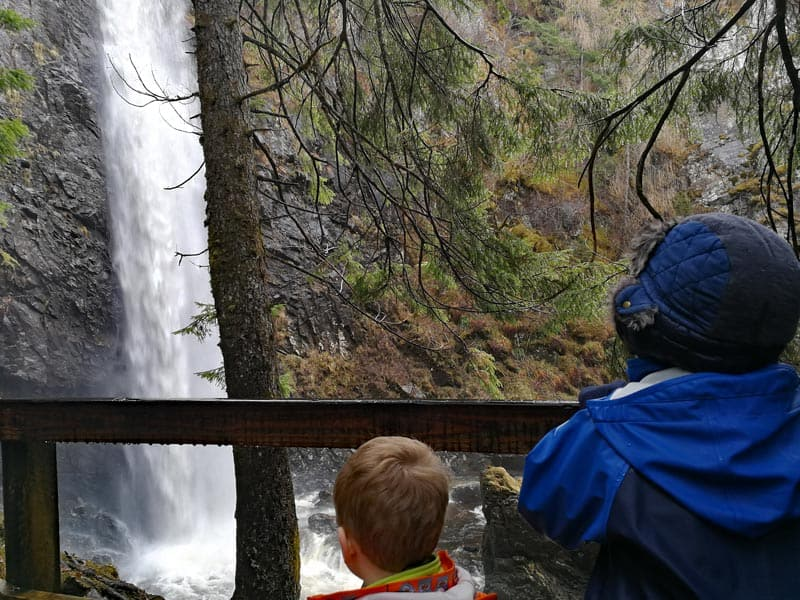 Children at Plodda Falls