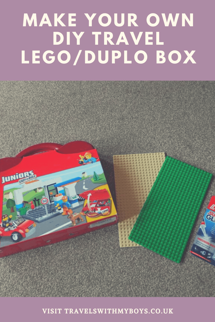 How to make your own travel diy Lego Box|Keep your kids entertained while travelling with a DIY travel lego box or Duplo box