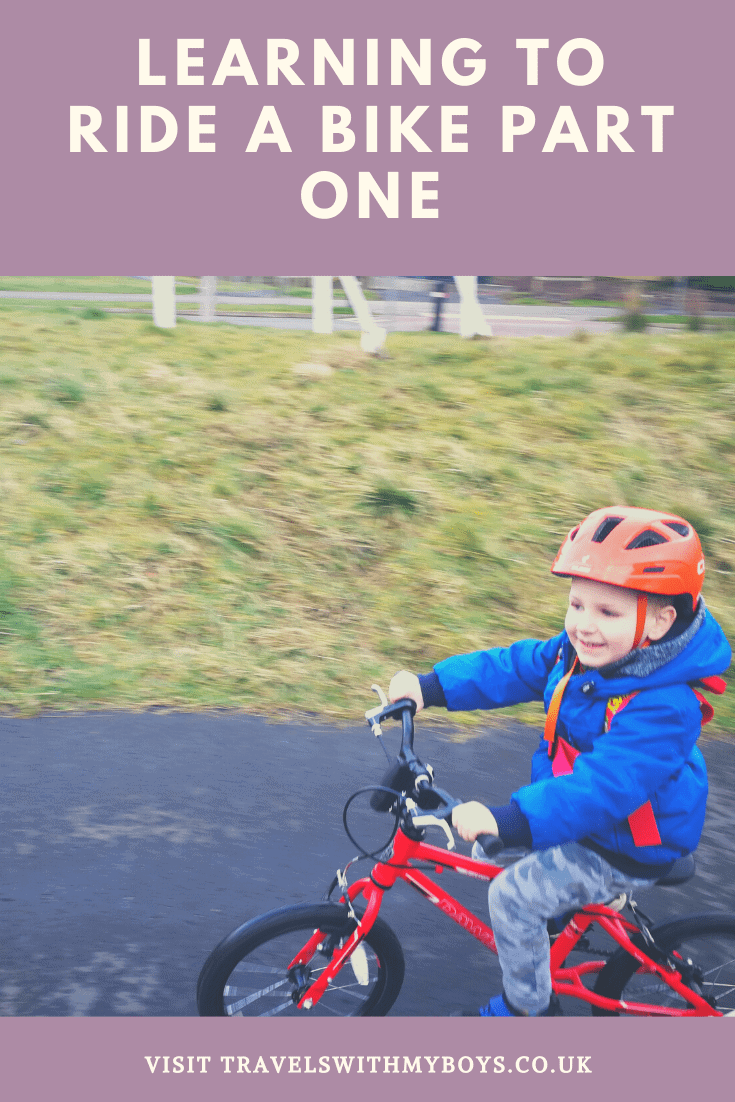 Learning to ride a bike. What helped our eldest son learn to ride his bike in less than an hour.