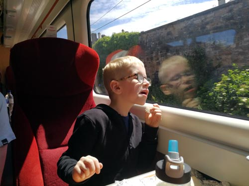 On the train to London