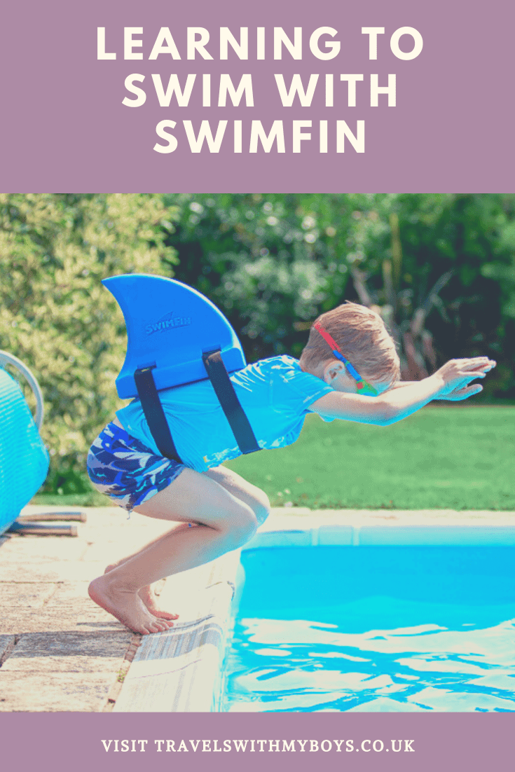 SwimFin vertical swimming aid for teaching kids how to swim