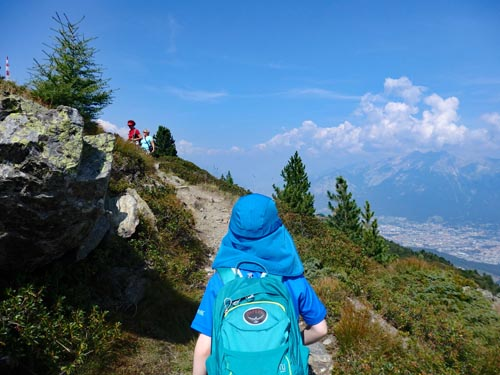 child walking in Austria