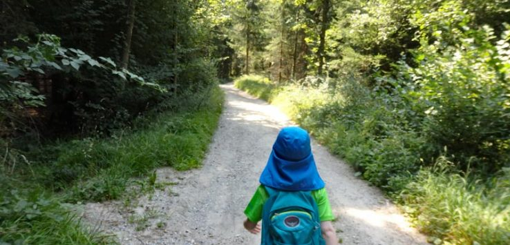 Child hiking in Igls